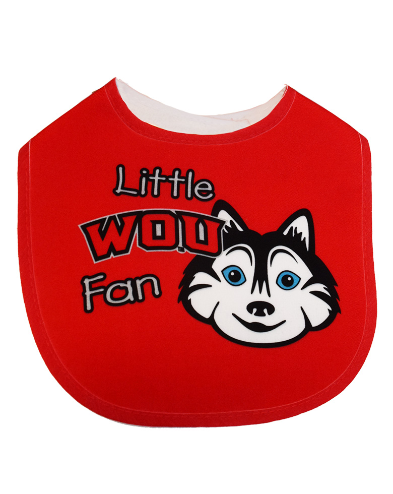 Little WOU Fan Bib