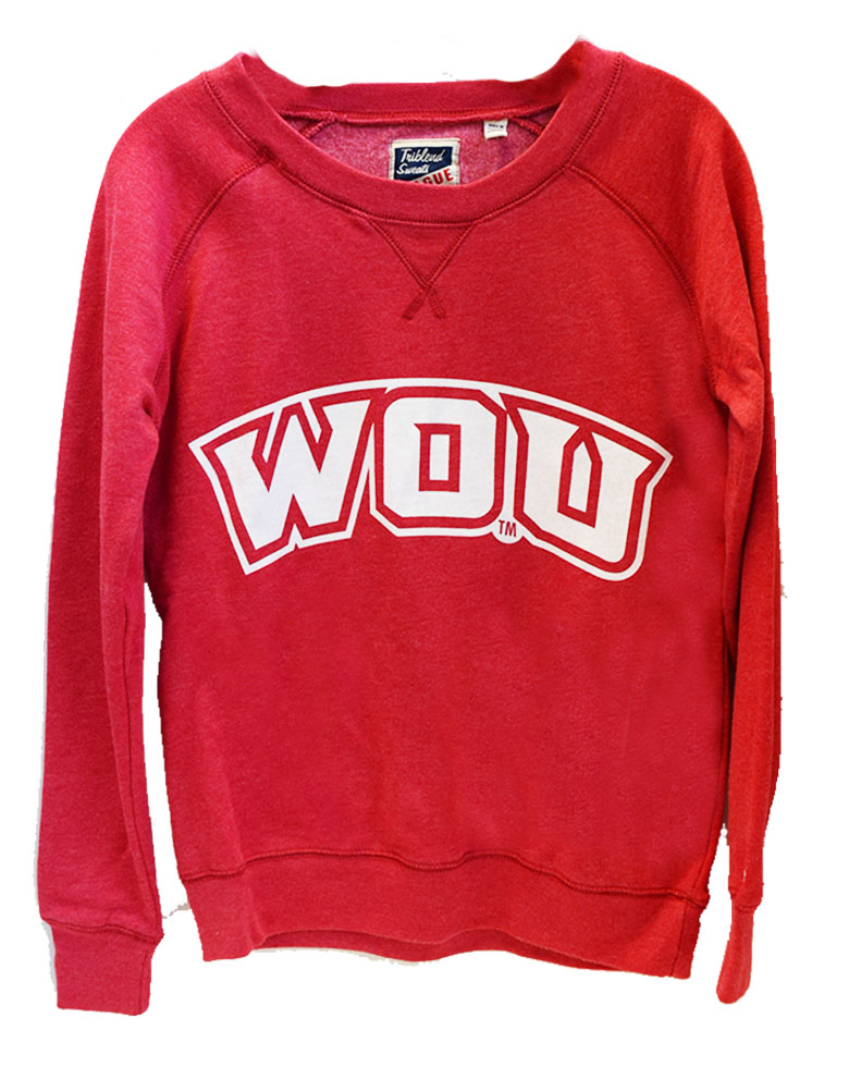 Red WOU Women's Crew
