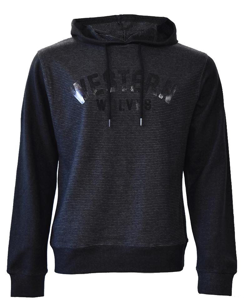 Black/Charcoal Pullover Hoodie