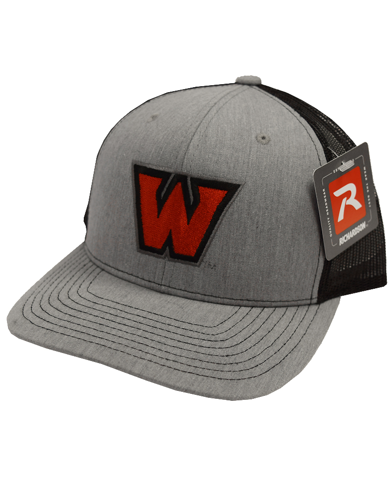 "Image For ""W"" Hat - Gray/Black"