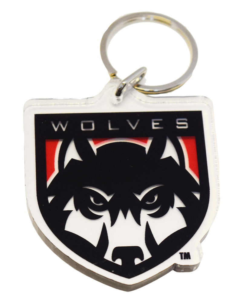 Cover Image For Wolves Shield Key Chain
