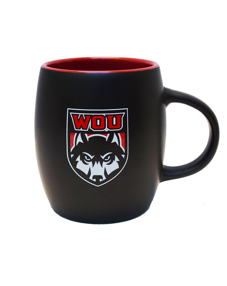 Image For WOU Shield Barrel Mug