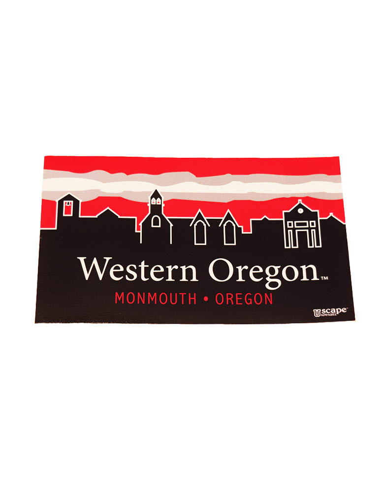 Image For Western Oregon Skyline Decal