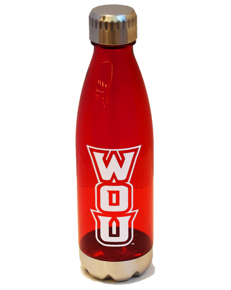 Image For Clear Red WOU Bottle