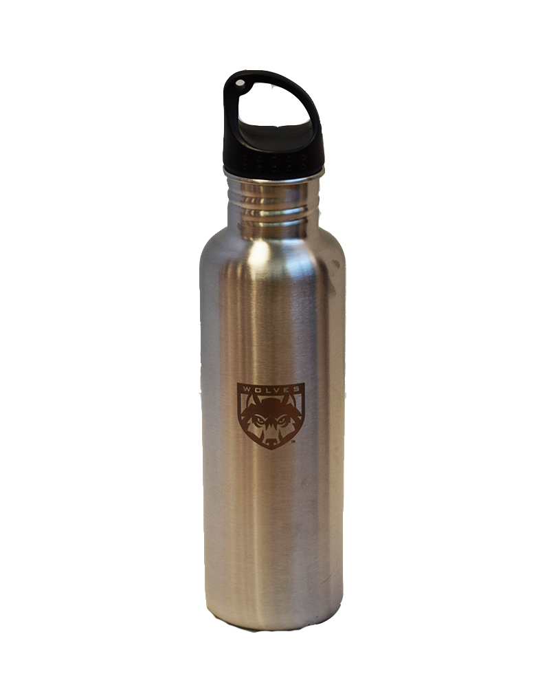 Image For Silver Stainless Steel Bottle