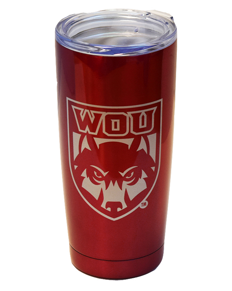Image For 20 oz. Dark Red WOU Tumbler