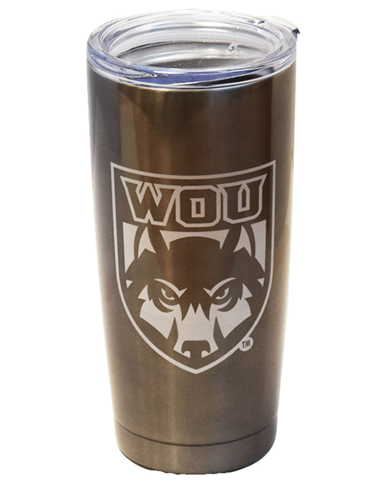 Image For 20 oz. Charcoal WOU Tumbler