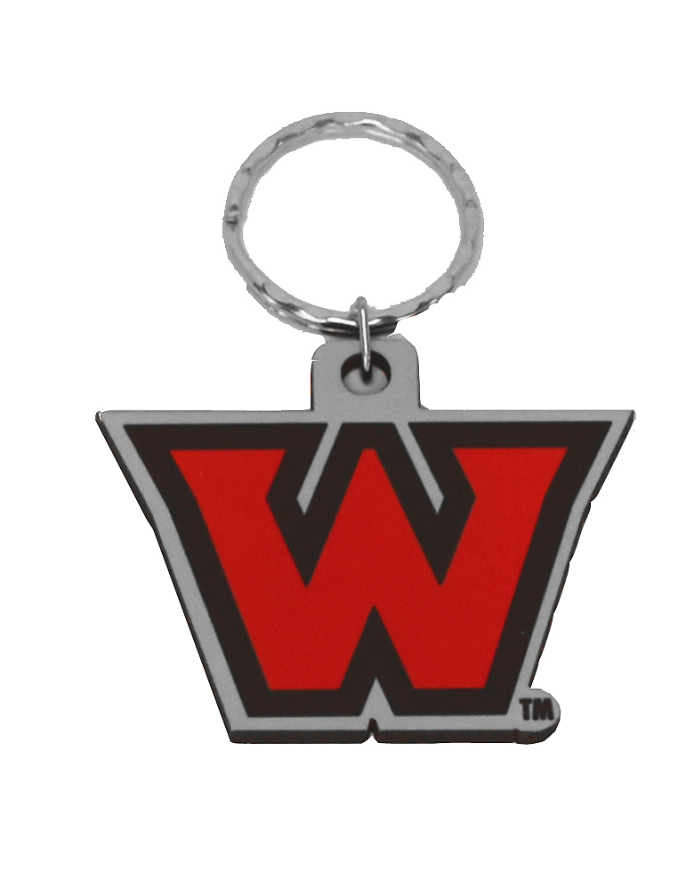 Spi Key Tag Big W Logo Western Oregon University Bookstore