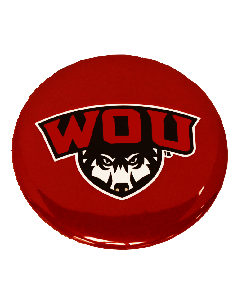 Image For WOU Button Magnet