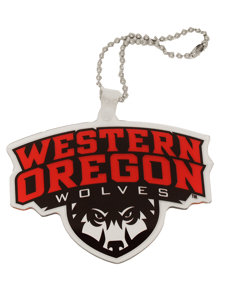 Cover Image For Western Oregon Wolf Shield Bag Tag