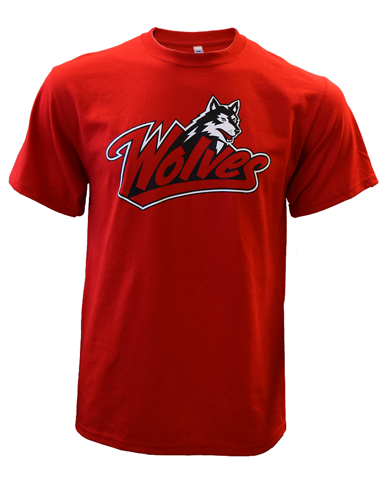 Image For Throwback Red Wolves Tee