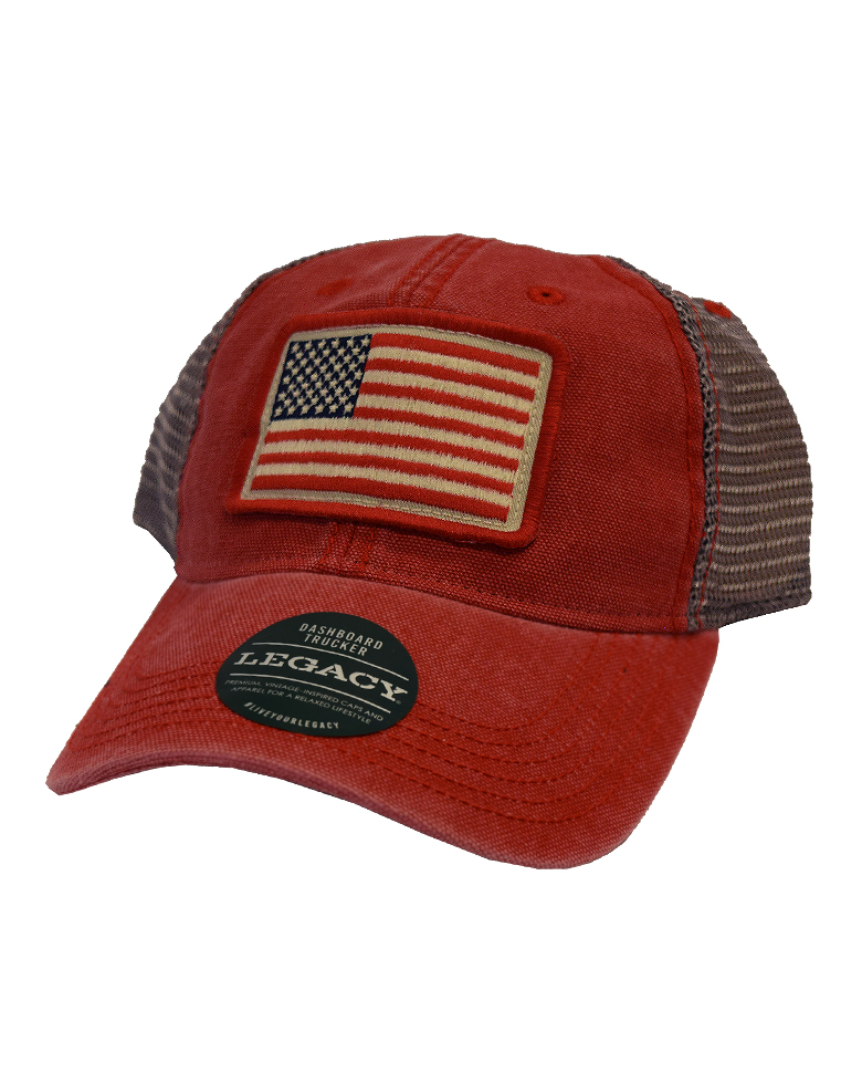 Cover Image For US Flag Hat - Red