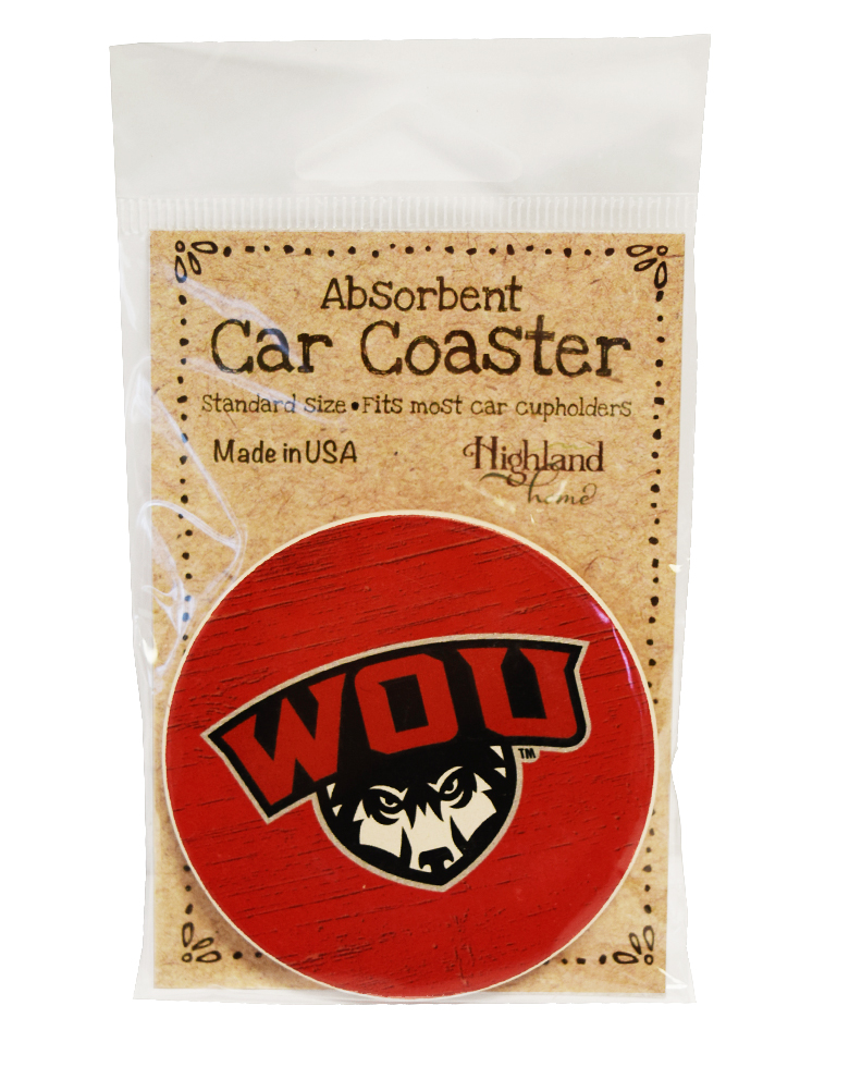 Cover Image For WOU Car Coaster