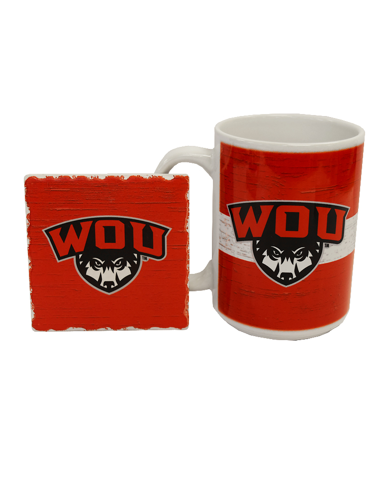 Image For WOU Mug and Coaster Set