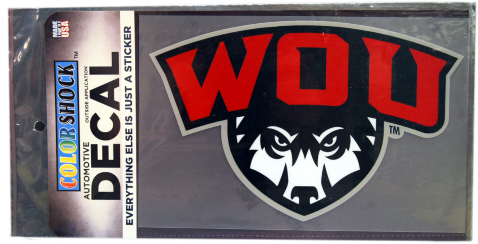 Image For XL WOU Wolf Shield Decal