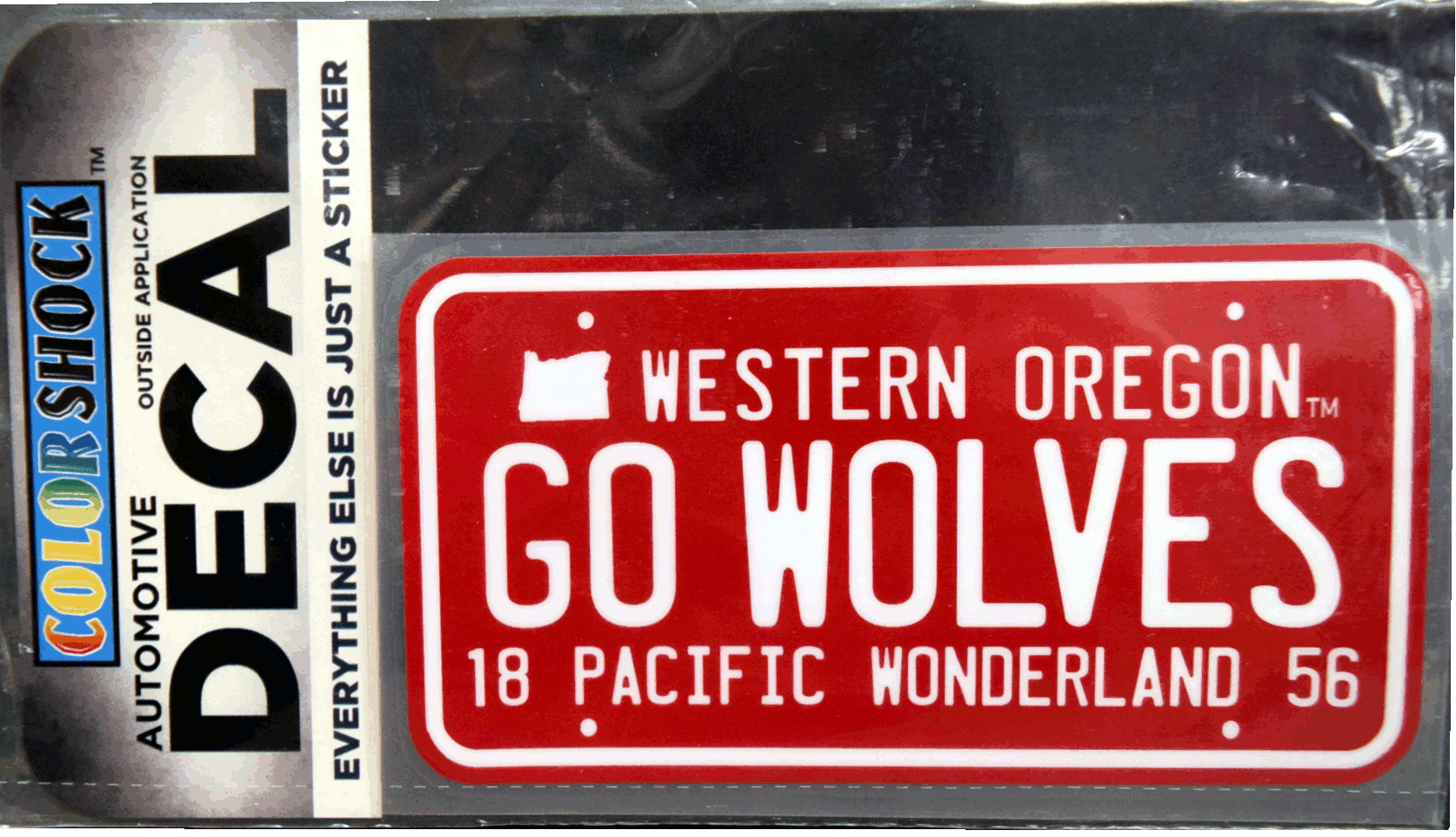 Cover Image For Go Wolves License Plate Decal