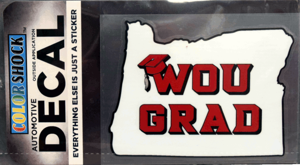 Image For WOU Grad Decal