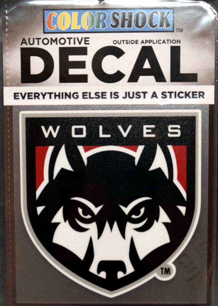 Image For Wolf Shield Decal