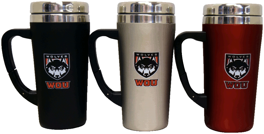 Image For Wolf Shield Coffee Mug W/Clip