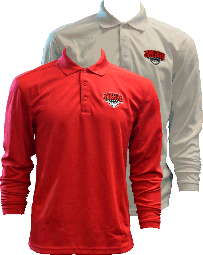 Image For Long Sleeve Primary Logo Polos
