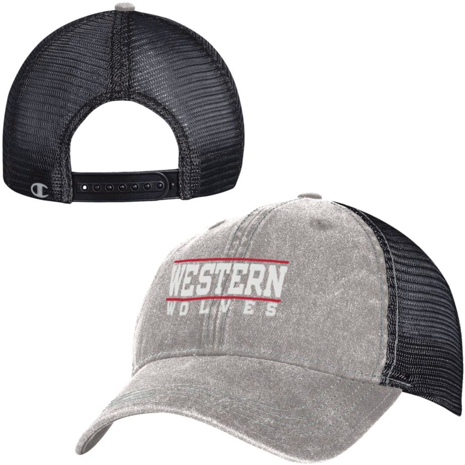 Image For Western Wolves Mesh Back Hat - Black