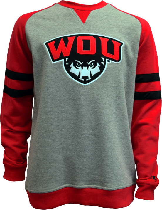 Image For Crew WOU Wolf Shield Logo