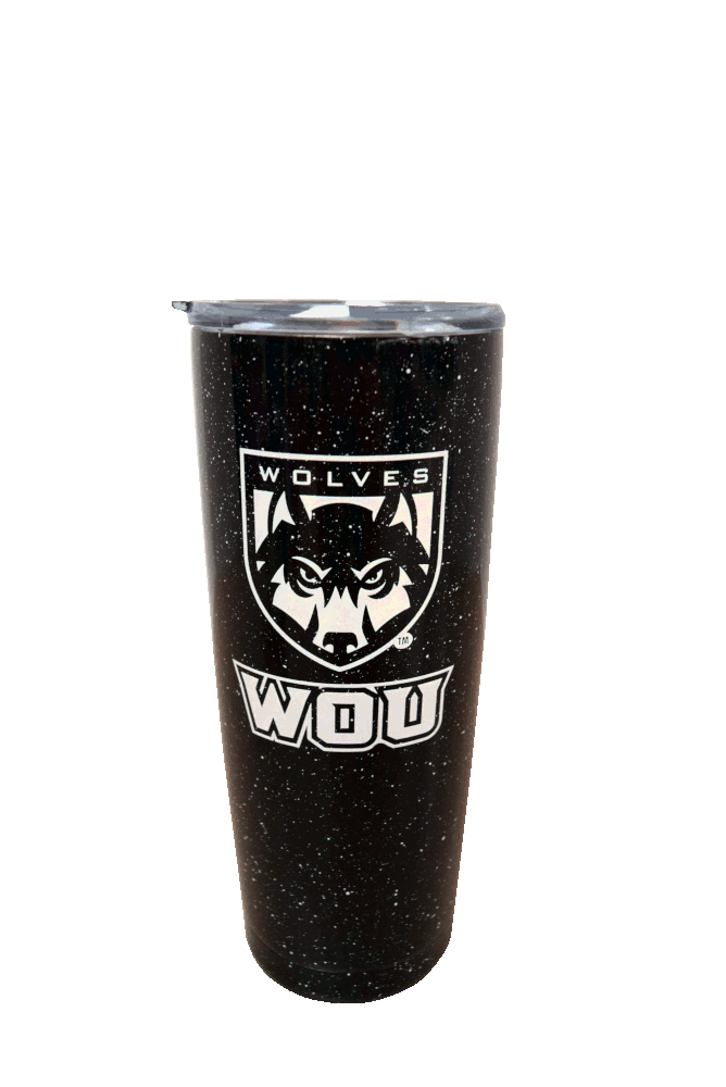 Image For Wolves Shield Logo Travel Tumbler
