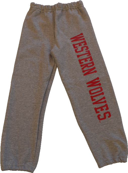 Image For Western Wolves Youth Sweatpants