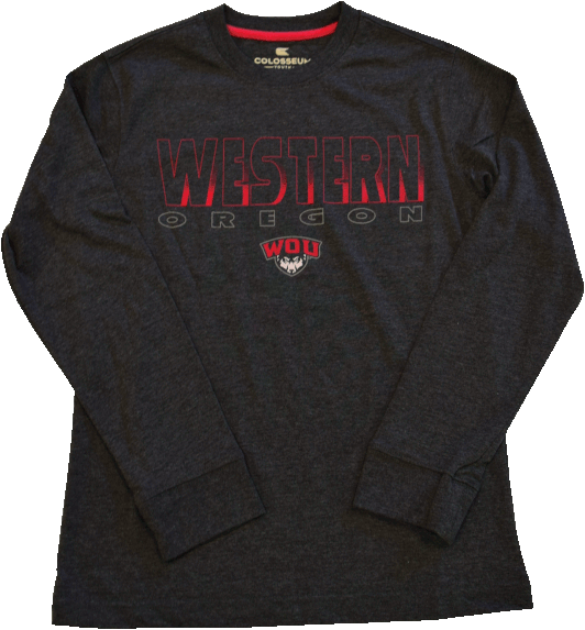 Image For Long Sleeve Western Oregon Youth Tee