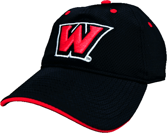 "Cover Image For Monogrammed ""W"" Hat Black/Red"