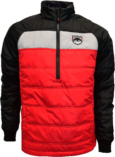 Image For Wolves Shield Logo 1/2 Zip Mens Jacket