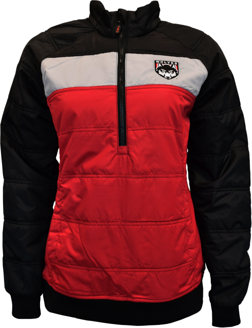 Cover Image For 1/2 Zip Womens Jacket W/ Wolves Shield Logo