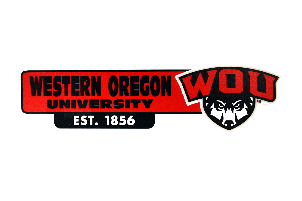 Cover Image For Western Oregon University Decal