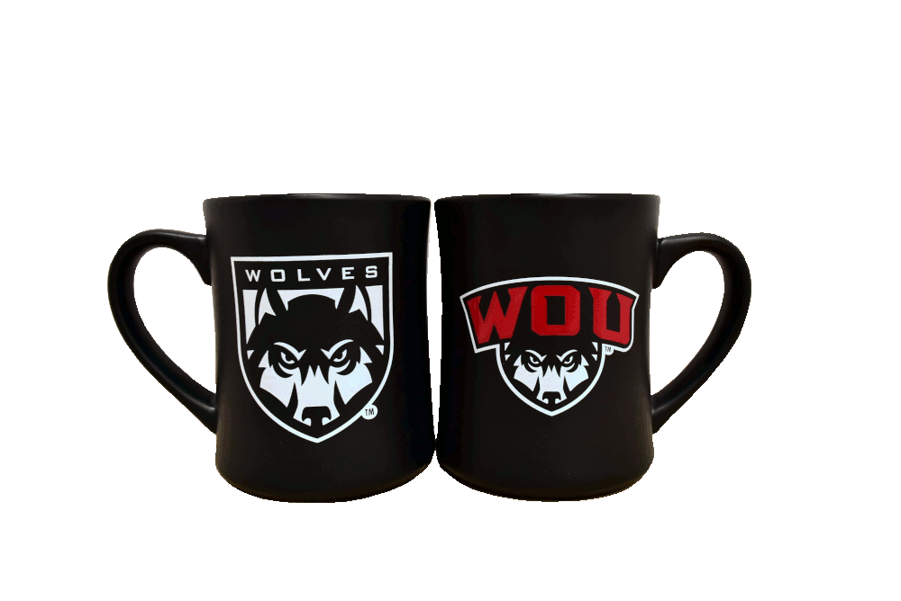 Cover Image For Double Logo Matte Black Mug