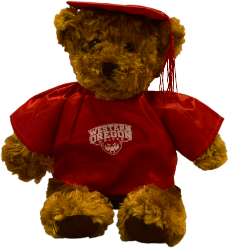 Image For Grad Bear With Primary Logo (Red)
