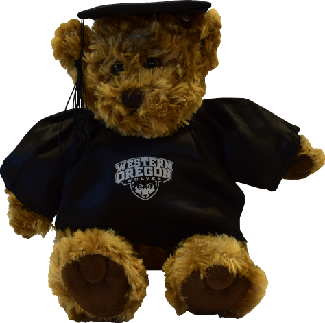 Image For Grad Bear With Primary Logo (Black)