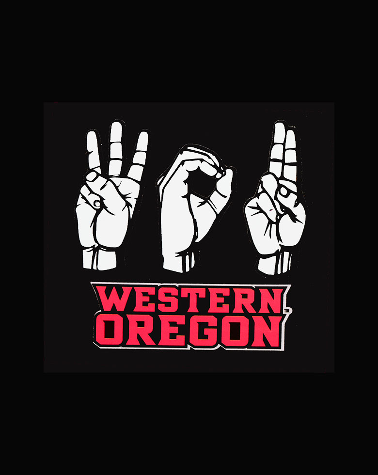 Cover Image For ASL Western Oregon Decal