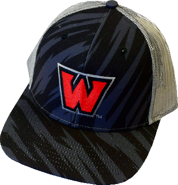 "Image For ""W"" Hat Digital Camo Black/Charoal"