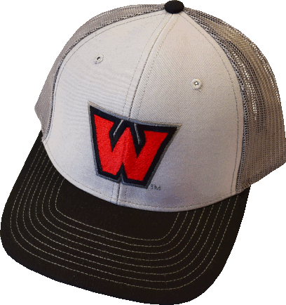 "Image For ""W"" Hat Grey/Charcoal/Black"
