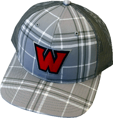 "Image For ""W"" Hat Plaid/Grey/Charcoal"