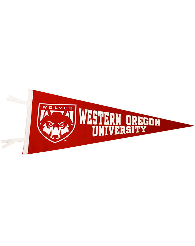 Image For Red WOU Large Pennant