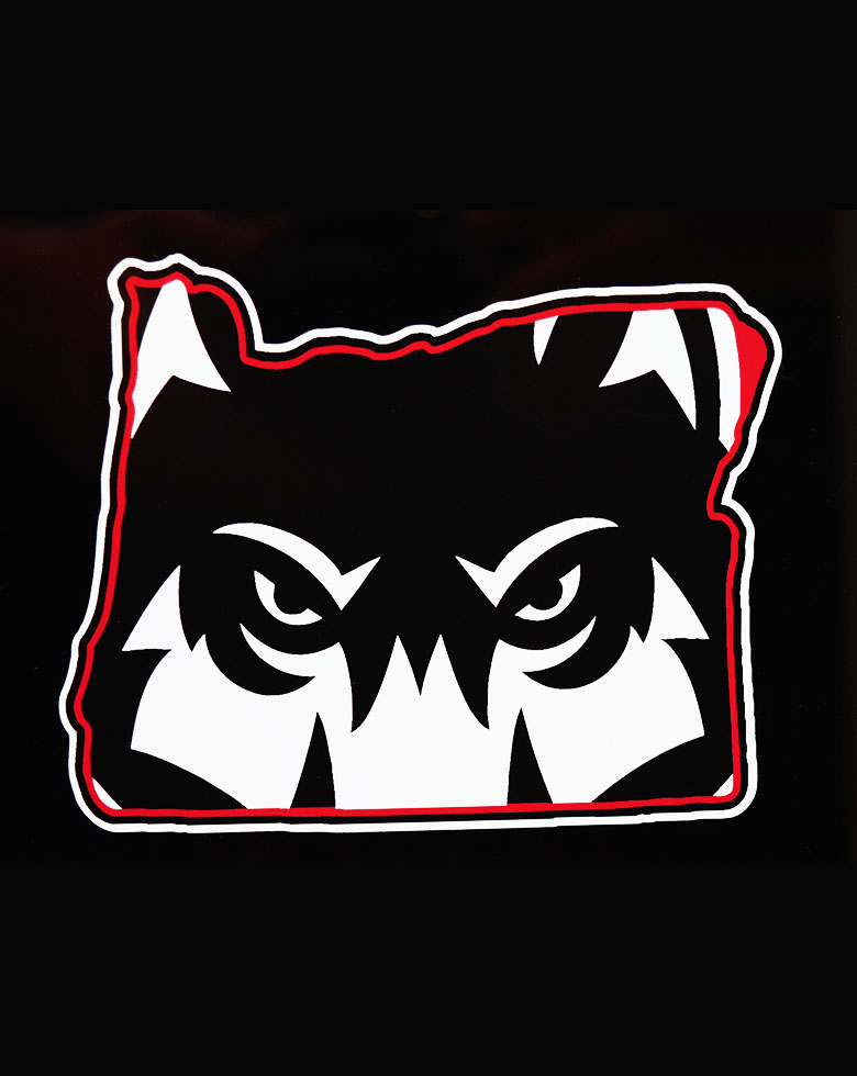 Image For Oregon Wolf Decal